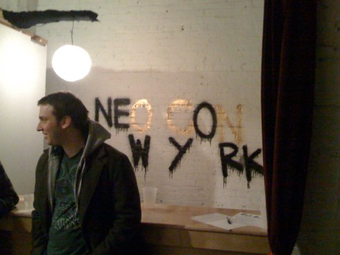 Neo Con New York show in BK- dope space:)