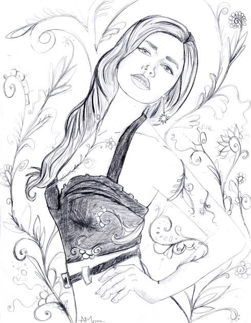 secret garden sketch