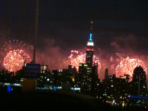 YES!!! Perfect location to peep the fireworks- we pulled over on the BQE