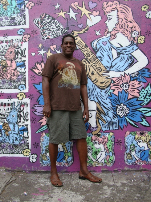 Thanks for letting us RE-FRESH ur wall Jerry- owner of WMC Jazz spot.