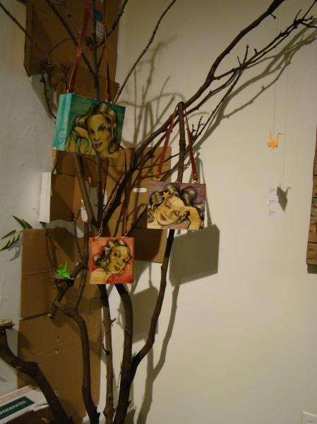 NANI CHACON hand painted wood purses- DOPE!