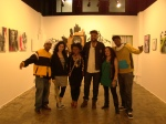 "the whole crew reppin' at Toofly's ""BRAVE SOULS ILLUMINATE"" exhibit in LA"